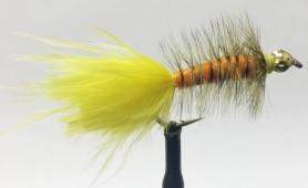 Woolly Bugger Orange & Yellow