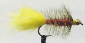 Woolly Bugger Red & Yellow