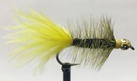 Woolly Bugger Black & Yellow